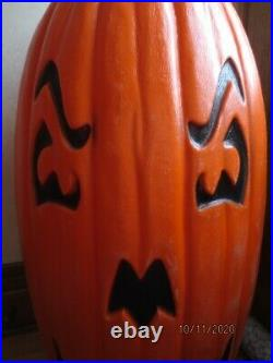 GIANT 36 Blow Mold Pumpkin 2 Sided Dual Faces Jack-O-Lantern Halloween Lighted