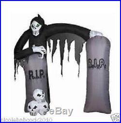 Gemmy 101 Halloween Grim Reaper Skeleton Archway Airblown Inflatable Yard Decor
