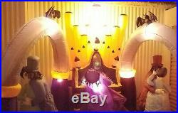 Gemmy 11 Ft Zombie Organ Player Halloween Inflatable Airblown Dance Zombies