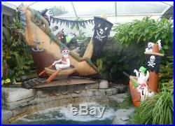 Gemmy 11ft Rare Halloween Airblown Inflatable Sinking Pirate Ship Working