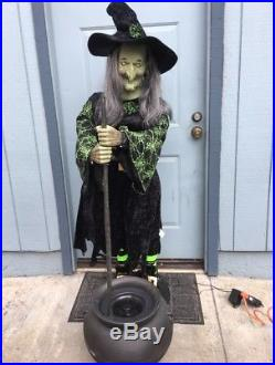 Gemmy 5 Foot Life-Sized Halloween Witch with Cauldron