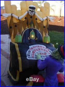 Gemmy 7ft Halloween Inflatable Air Blown Organ Player Lights Sounds Moves