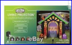 Gemmy 8.7-ft x Haunted House Arch with projector Halloween Inflatable Retail $210