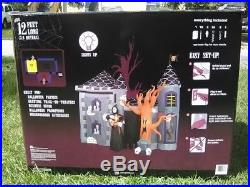 Gemmy Air blown Inflatable 12 FT Halloween Lighted HAUNTED HOUSE Castle Mansion