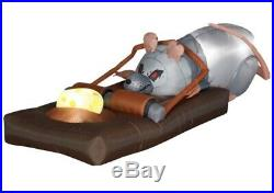 Gemmy Airblown Animated Inflatable Rat In Trap Halloween Decoration Rare