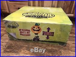 Gemmy Airblown Inflatable 15 Halloween Hot Air Balloon Pumpkin Great Condition