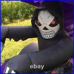 Gemmy Airblown Inflatable 6ft Halloween Skeleton Trike