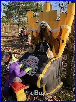 Gemmy Airblown Inflatable 7ft ORIGINAL Organ Piano Zombie Light Show Halloween
