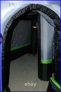 Gemmy Airblown Inflatable 9 Ft Halloween Haunted House With Lights And Sounds