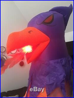 Gemmy Airblown Inflatable Animated Flaming Phoenix Or Griffin Prototype 9 Ft