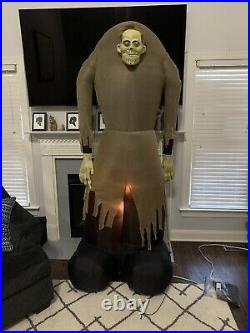Gemmy Airblown Inflatable Ogre Brown Halloween Yard Decoration