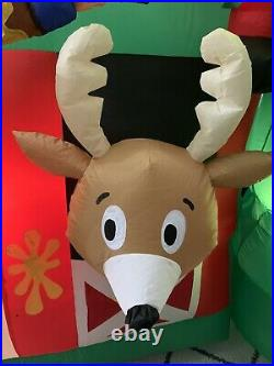 Gemmy Airblown Inflatable Prototype Reindeer Stall Elf Paint Fail 12 Ft