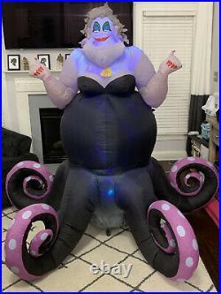 Gemmy Airblown Inflatable Ursula Disney Halloween Custom Yard Decoration Video