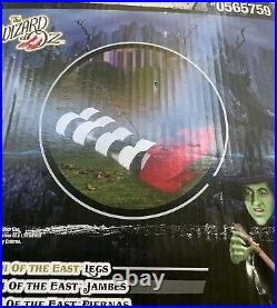 Gemmy Airblown Inflatable Wicked Witch Of The West Ruby Slippers Wizard Of Oz