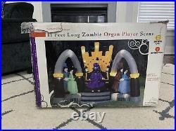 Gemmy Airblown Inflatable Zombie Organ Scene 11 Ft. New In Box 2008 Sams Club