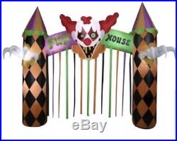 Gemmy Clowns Inflatable 12ft. Archway Fun House Indoor/Outdoor Halloween Deco