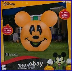 Gemmy Disney 9.5 ft Halloween Mickey Mouse Jack O Lantern Pumpkin Inflatable NIB