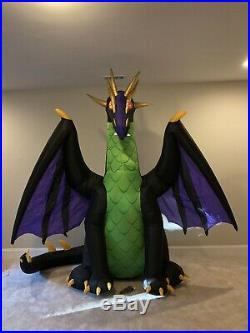 Gemmy Halloween Airblown Inflatable Animated Giant Dragon Blow Up Yard Decor