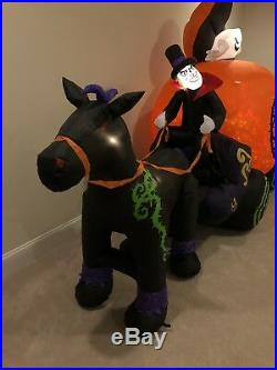 Gemmy Halloween Airblown Inflatable Carriage Blow Up Yard Decor