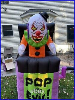 Gemmy Halloween Airblown Inflatable Pop Goes The Evil RARE