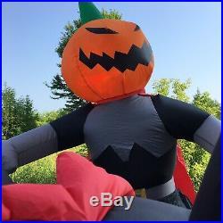 Gemmy Halloween Airblown Inflatable Pumpkin Horseman