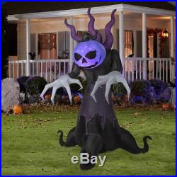 Gemmy Halloween Grim Reaper Creeper LED Lighted Airblown Inflatable 9.5' Tall