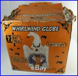 Gemmy Halloween Inflatable Airblown Whirlwind Snow Globe 7 ft Ghosts BATS MIB