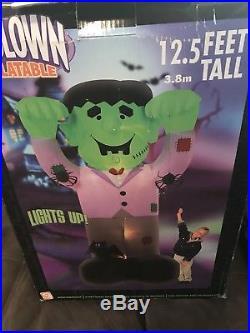 Gemmy Huge 12.5 Halloween Frankenstin Inflatable EUC