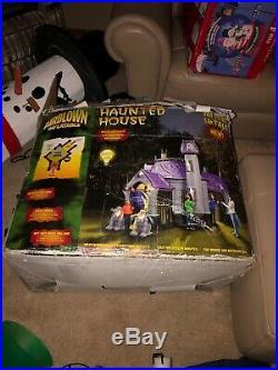Gemmy Inflatable Airblown Haunted House 12.5 Feet Tall halloween rare htf