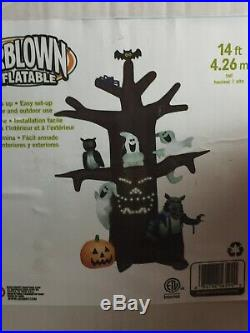 Gemmy Rare 14 Ft Inflatable Lightsync Halloween Tree