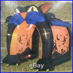 Gemmy airblown Cat Tunnel Light Effect Halloween Inflatable NIB