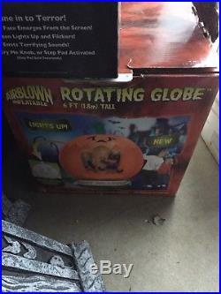 Gemmy airblown inflatable halloween Rotating Globe Witch Rare
