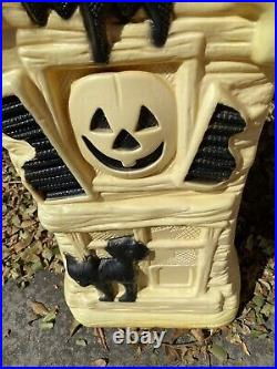 General Foam Plastics Blow Mold Halloween Haunted House Yard Decoration Vtg