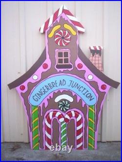 Gingerbread Junction Train Depot Christmas Yard Art