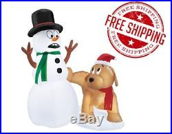 Great Inflatable Snoopy Snowman Christmas Decoration Yard Animated Snow Outdoor