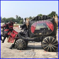 Grim Reaper Hearse Double Horse Carriage Halloween Inflatable Air Blown Gremmy