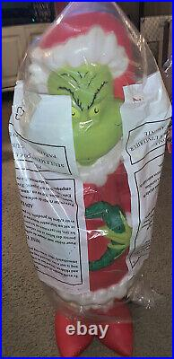 Grinch 24 Christmas Santa Lighted Blow Mold Whoville outdoor Plastic decor