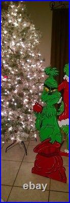 Grinch Stealing Christmas Yard Art Decoration Wood Cutout