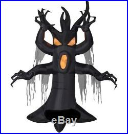 HALLOWEEN 12 FT BLACK SCARY HAUNTED TREE Airblown Inflatable YARD DECORATION