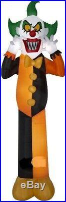 HALLOWEEN 12 FT CRAZY CLOWN Airblown Inflatable YARD DECORATION GEMMY