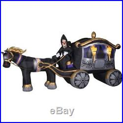 HALLOWEEN 13 FT Photorealistic Grim Reaper CARRIAGE INFLATABLE AIRBLOWN YARD