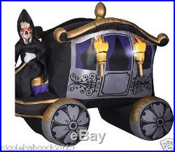 HALLOWEEN 13' Photorealistic Skeleton Reaper horse CARRIAGE INFLATABLE YARD deco