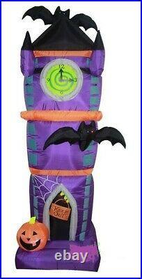 HALLOWEEN 7.5 FT VAMPIRE BAT CLOCK TOWER Airblown Inflatable YARD DECORATION