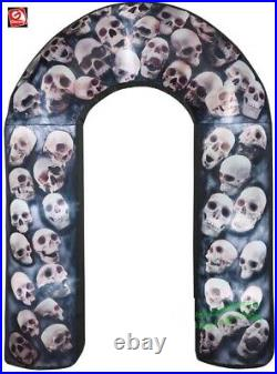 HALLOWEEN 8 FT SKULL ARCHWAY ARCH PHOTOREALISTIC Airblown Inflatable