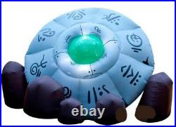 HALLOWEEN AIRBLOWN Inflatable 10 FT CRASHED SPACESHIP UFO ALIEN AREA 51 SHIP