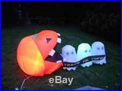 HALLOWEEN Gemmy Pac-Man Airblown Light-up 8 Ft. Inflatable Yard Decor Prop