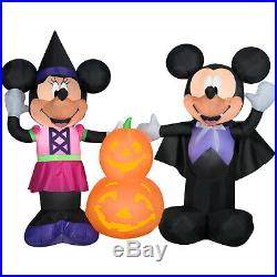 HALLOWEEN MICKEY MOUSE & MINNIE MOUSE VAMPIRE PUMPKIN DISNEY Airblown Inflatable