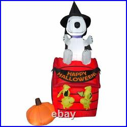 HALLOWEEN SNOOPY WITCH WOODSTOCK DOG HOUSE Inflatable airblown