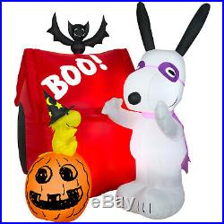 HALLOWEEN SNOOPY & WOODSTOCK PUMPKIN PEANUTS DOG HOUSE Inflatable airblown 5 FT
