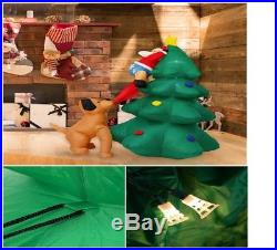 HOT Inflatable Snoopy Santa Animated Christmas Decoration Yard Ornaments Outdoor